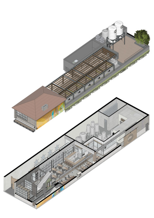 Goose_axo Goose Island Brewhouse / SuperLimão Studio + McKinley Burkart Architects Architecture