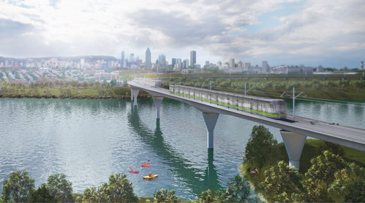 REM_Pont-IDS Lemay, Perkins+Will, and Bisson Fortin to Design Montreal Light Rail System Architecture