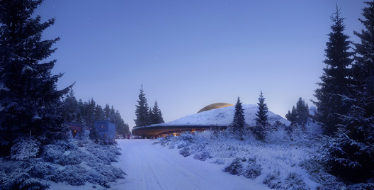 2017228_OS_N2 Snøhetta Designs Planetarium and Interstellar Cabins in Norwegian Forest Architecture
