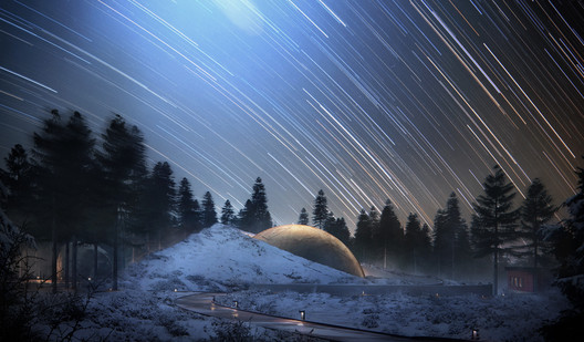 2017228_OS_N7 Snøhetta Designs Planetarium and Interstellar Cabins in Norwegian Forest Architecture