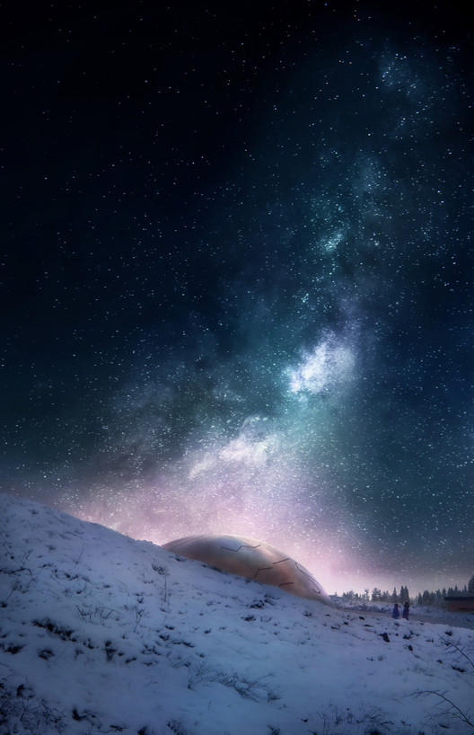 2017228_OS_N5 Snøhetta Designs Planetarium and Interstellar Cabins in Norwegian Forest Architecture