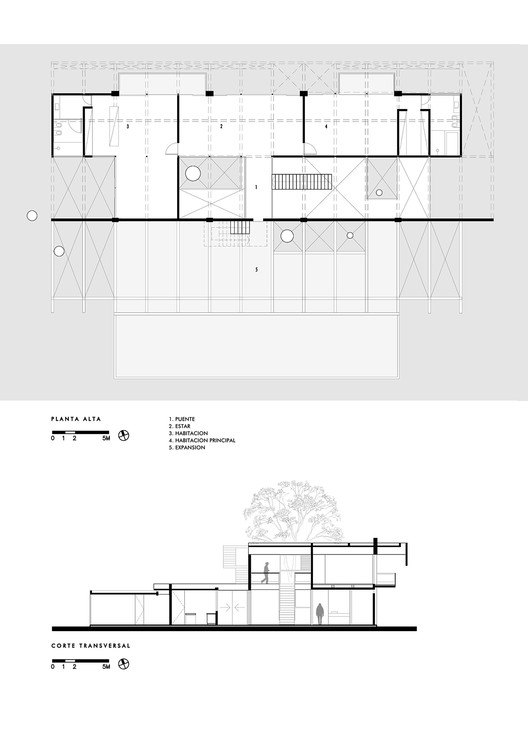 Upper Floor Plan and Cross Section