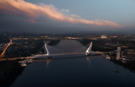 03 UN Studio Triumphs in Competition for New Budapest Bridge Over the River Danube Architecture