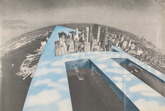 """New-New York, 1969. This drawing was displayed as part of the exhibition """"Drawing Ambience: Alvin Boyarsky and the Architectural Association"""" © Superstudio. Image Courtesy of Collection of the Alvin Boyarsky Archive"""