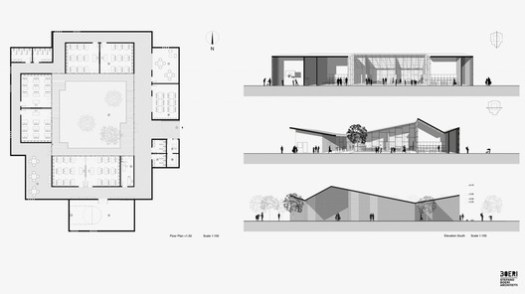 Elevations and Plans. Image Courtesy of Stefano Boeri Architetti