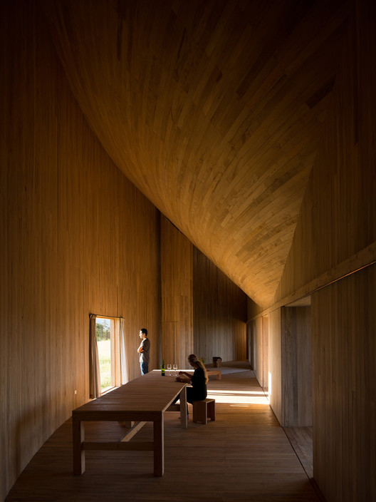 Rode house in Chiloe Island, X Region, Chile / Pezo von Ellrichshausen. Image © Pezo von Ellrichshausen