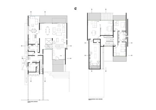 Ground + First floor plan