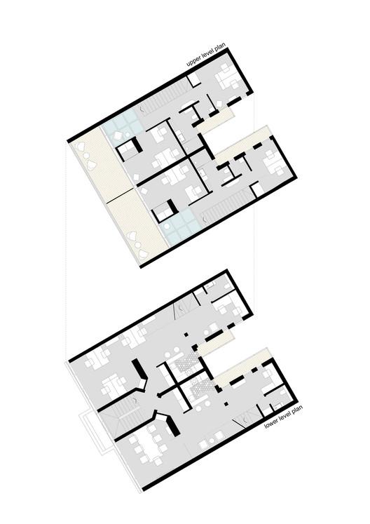 01_floor_plans GV51 Penthouse Apartments / Ela Nesic + Danilo Nedeljkovic Architecture