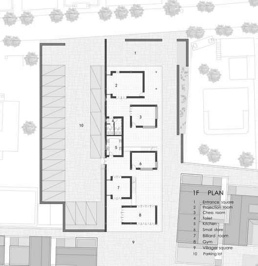 04.First_Floor_Plan Dongziguan Villagers' Activity Center / gad x line+ studio Architecture