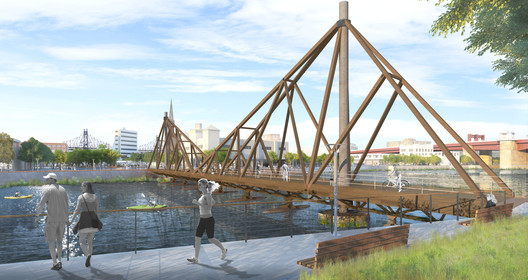 C2_queensborobridge- A Floating Timber Bridge Could Connect Greenpoint, Brooklyn and Long Island City Architecture