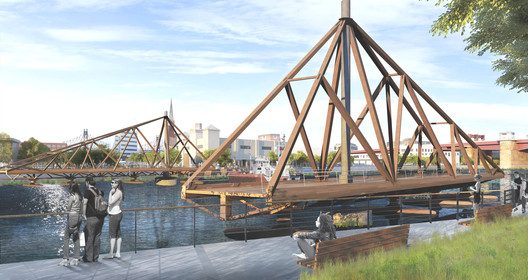 C3-2018-05-08 A Floating Timber Bridge Could Connect Greenpoint, Brooklyn and Long Island City Architecture