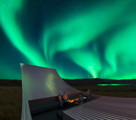 roof_fire_place_francois_bodlet Bee Breeders Announce Winners of the Iceland Northern Lights Rooms Competition Architecture