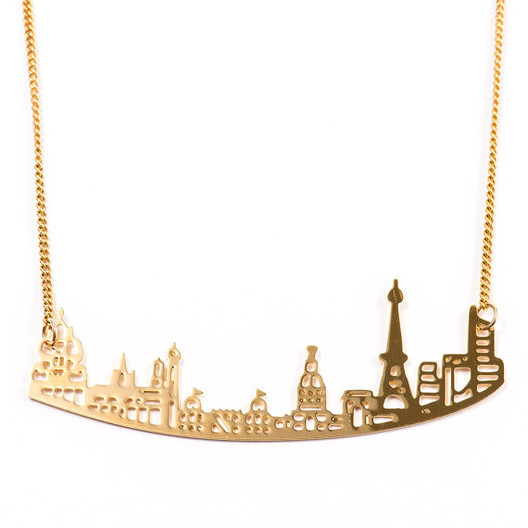 Sketchadesign_-_Etsy Wearable Architecture: 11 Architecture-Inspired Jewelry Lines Architecture