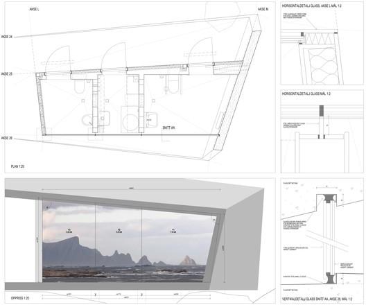 DETAIL_service_glassfront BUKKEKJERKA / MORFEUS arkitekter Architecture