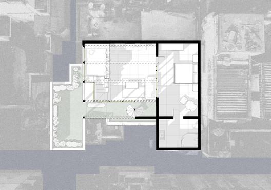 plan The Garden Roof Parasol / Harsh Vardhan Jain Architect Architecture