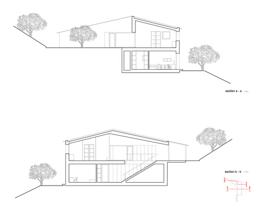 section_a_b Casa K / Alessandro Bulletti Architetti Architecture