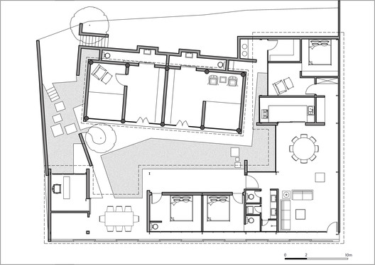 %E5%9B%BE29-%E5%B9%B3%E9%9D%A2%E5%9B%BE-plan A House Near the Great Wall / Jin Lei Architecture
