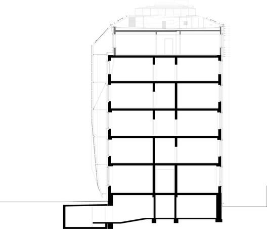 Schnitt TIWAG Hauptverwaltung Innsbruck / puerstl langmaier architekten Architecture
