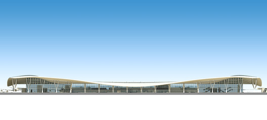 South_elevation Kempegowda International Airport / HOK Architecture