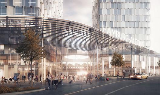 FALCVI05 C.F. Møller's Green-Centric Proposal Wins Competition for New Train Station in Hamburg Architecture