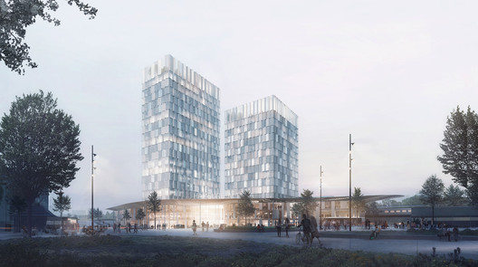 FALCVI06 C.F. Møller's Green-Centric Proposal Wins Competition for New Train Station in Hamburg Architecture