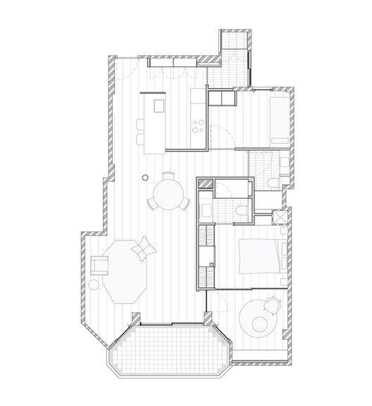 SardenyaApartment-PLAN Sardenya Apartment / Raúl Sánchez Architecture