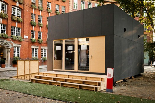 A 2-story WikiHouse design constructed in 2014 for the London Design Festival.. Image © Margaux Carron www.margauxcarron.com