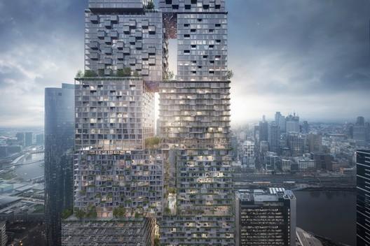 The Lanescraper. Image Courtesy of BIG – Bjarke Ingels Group / Fender Katsalidis Architects