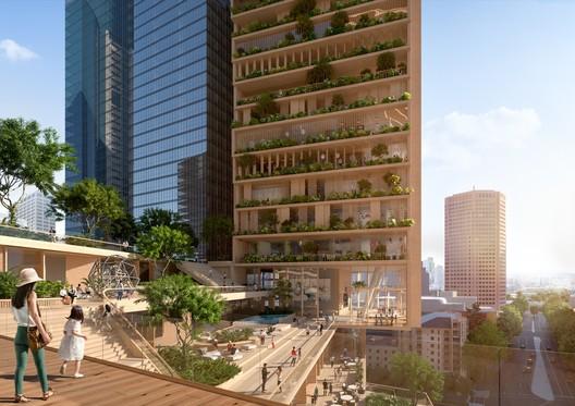 Green Spine. Image Courtesy of UNStudio / Cox Architecture