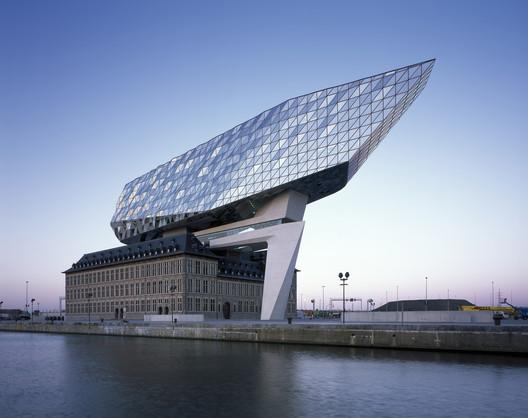 Port offices of Antwerp, Zaha Hadid Architects. Image © Helene Binet