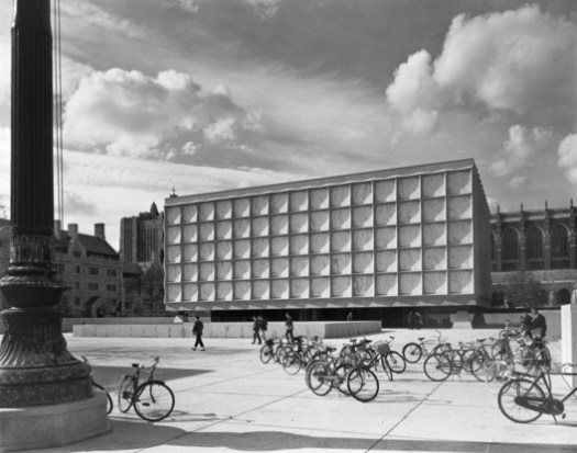 Ezra Stoller. Beinecke Library, Yale University, Skidmore, Owings & Merrill, New Haven, CT, 1963. © Ezra Stoller. Courtesy of Yossi Milo Gallery, New York