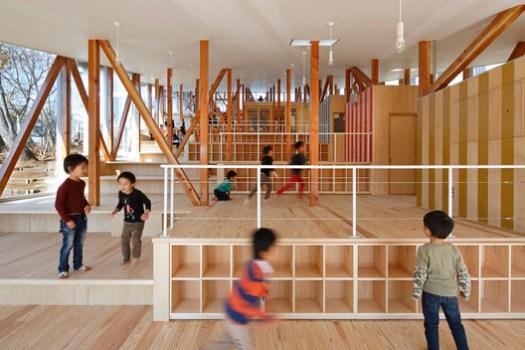 Jardim de Infância Hakusui / Yamazaki Kentaro Design Workshop. Image Cortesia de amazaki Kentaro Design Workshop