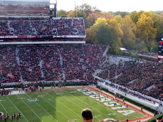 14. Sanford Stadium / Athens, Georgia, USA. Image courtesy of flickr user geekstar. Licensed under CC BY-NC 2.0