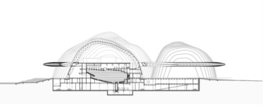 Section of the opera house
