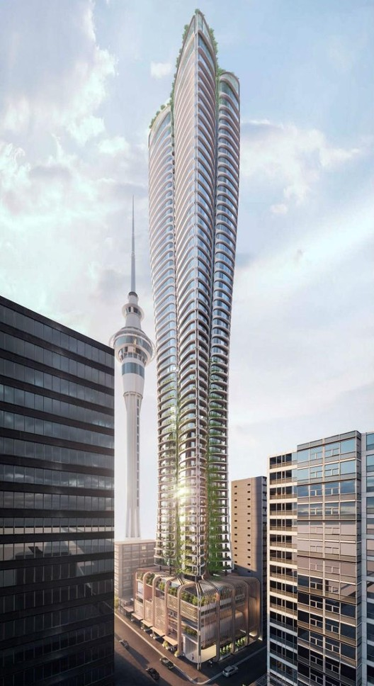 Auckland Tower. Image Courtesy of Cox Architecture