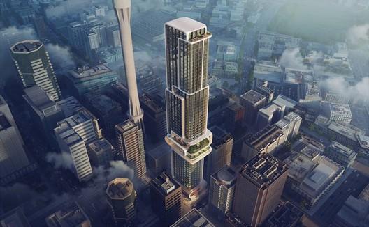 Auckland Tower. Image Courtesy of Zaha Hadid Architects