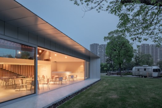 event space and lawn. Image © Hao Chen