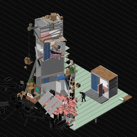 """Pragmatic Award: """"Urbanism of Stuff"""" by Jacob Comerci, Princeton University School of Architecture . Image Courtesy of arch out loud"""
