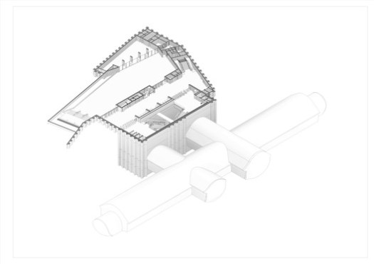 Axonometric / Estadio Nacional Station