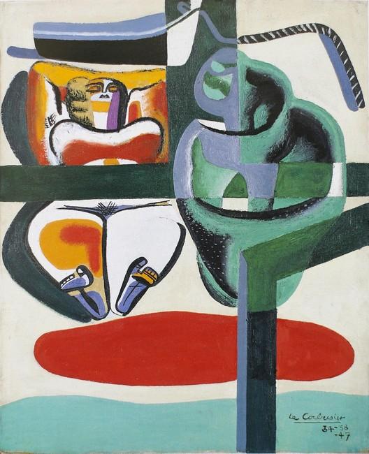 Baigneuse, barque et coquillage. Image © The Foundation Le Corbusier / FLC ADGAP