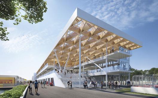 New Paddock – F1 Grand Prix du Canada / Les Architects FABG. Image via Canadian Architect Magazine