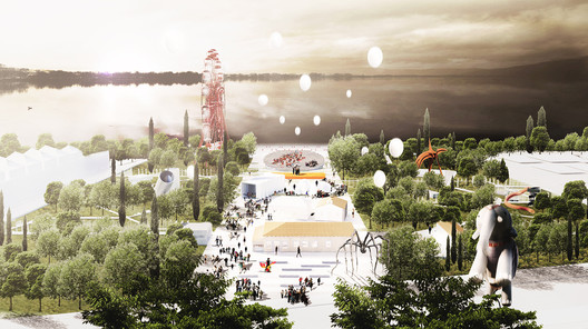 Urban Theater. Image Courtesy of Anagram Architecture & Urbanism