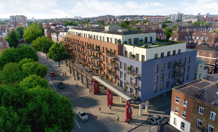 London Development to Offer First Dedicated Drone Port in the UK, Lyons Place. Image Courtesy of Lyons Place