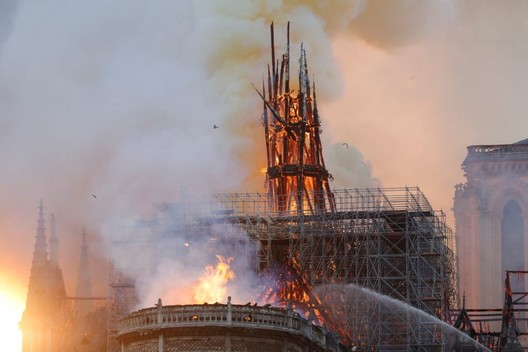 Notre Dame fire. Image © Francois Guillot / AFP