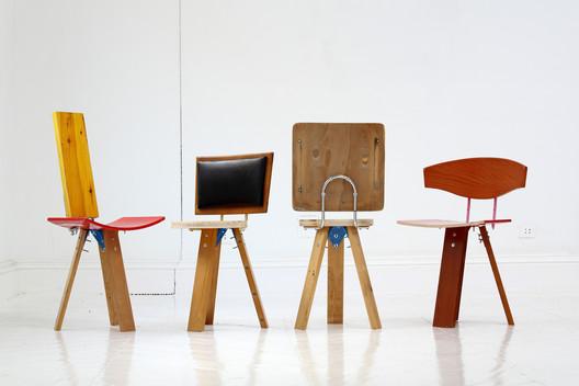 'Taburetes Sociales'. Design by Curro Claret, Arrels Fundació and collaborators. Image © Juan Lemus