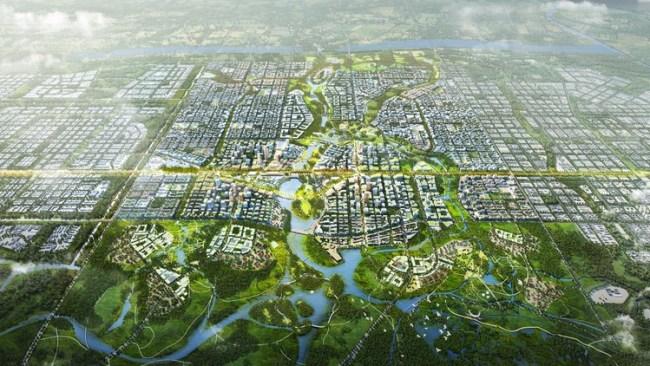 SOM e TLS projetam modelo de cidade do futuro na China | ArchDaily Brasil