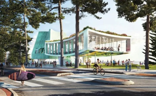 Cottesloe Beach Pavilion. Image Courtesy of Durbach Block Jaggers Architects with Ohlo Studio and Aspect Studios