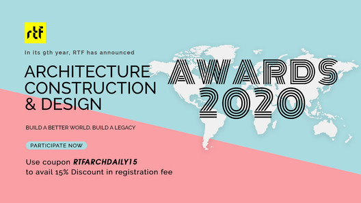 Architecture, Construction & Design Awards 2020. Image Courtesy of Rethinking The Future