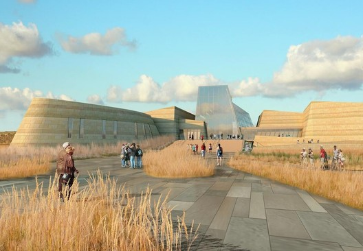 Previous Theodore Roosevelt Presidential Library Concept. Image Courtesy of JLG Architects
