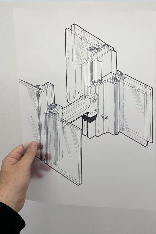 Estudo isométrico de elementos de parede cortina unificados no projeto The Shard. Image Cortesia de The Donnies